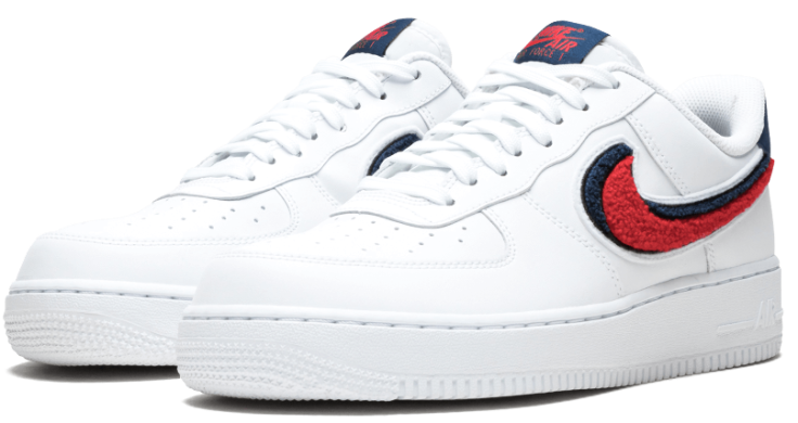 "Мужские кроссовки Nike Air Force 1 07 LV8 ""Chenille Swoosh"", EUR 43"