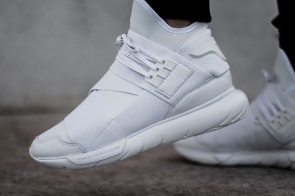 "Кросівки Adidas Y-3 Qasa High ""Triple White"", EUR 36"