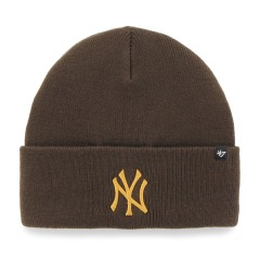 "Шапка Оригинал 47 Brand New York Yankees Haymaker Cuff Knit ""Brown"""