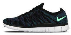 "Кроссовки Nike Free Flyknit NSW ""Black/Green/Glow"""