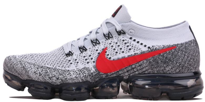 "Кроссовки Nike Air Vapormax Flyknit ""Grey/Red"", EUR 42"