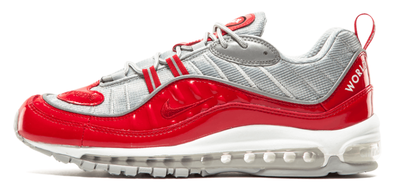 "Кросiвки Supreme X Nike Air Max 98 ""Red"", EUR 41"