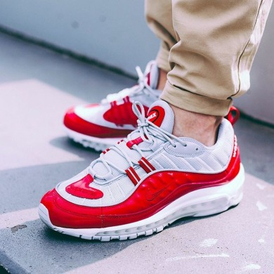 "Кроссовки Supreme X Nike Air Max 98 ""Red"", EUR 43"