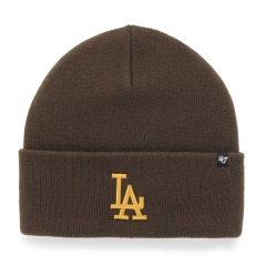 "Шапка Оригинал 47 Brand Los Angeles Dodgers Haymaker Cuff Knit ""Brown"" (B-HYMKR12ACE-BW)"