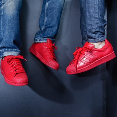 "Кроссовки Adidas x Pharrell Superstar Supercolor ""red"", EUR 41"